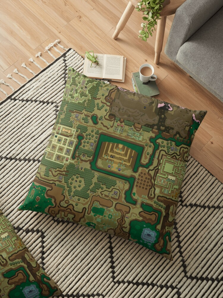 Lttp Dark World Map Floor Pillows By Reikaitantei1 Redbubble