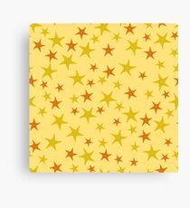Exotic Seafish Seamless Pattern on Yellow Background Canvas Print