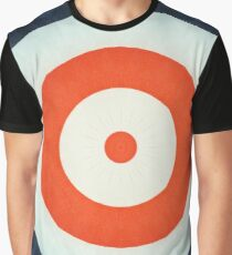 USA Stars and Stripes Target Pattern Graphic T-Shirt