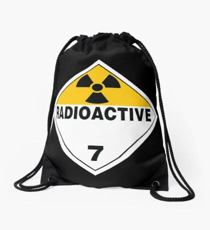 Radioactive Warning Sign Drawstring Bag
