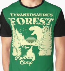 Tyrannosaurus Forest Running Camp Graphic T-Shirt