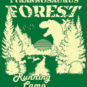 Tyrannosaurus Forest Running Camp by BroseBrosPro