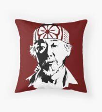 Mr Miyagi from The Karate Kid Throw Pillow