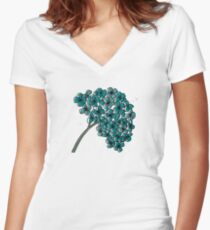 Hydrangea  Women's Fitted V-Neck T-Shirt
