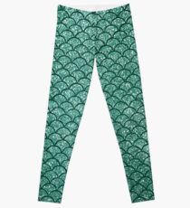 Aquamarine Sparkly Mermaid Scales Leggings