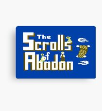 Gaming [C64] - The Scrolls of Abadon Canvas Print