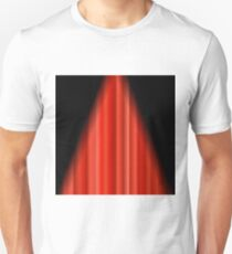 Cinema Closed Red Curtain. Red Textile Pattern. Cinema Stage. Unisex T-Shirt