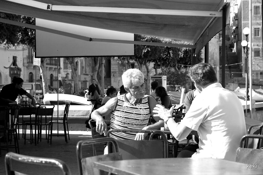 Men in a bar by keki