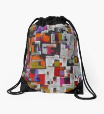 Split Down the Middle Drawstring Bag