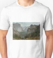 Indians at Campfire, Yosemite Valley by Thomas Hill T-Shirt