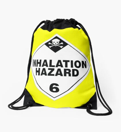 Inhalation Hazard Warning Sign Drawstring Bag