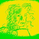Caught series, green & yellow by rose loya
