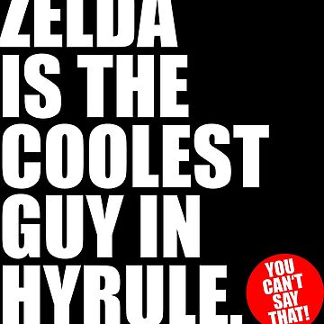 ZELDA IS THE COOLEST GUY IN HYRULE by DRgrfx
