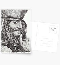 Captain Jack Sparrow Postcards