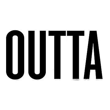 Straight Outta Atlanta, Lovers Atlanta City T-Shirt  by Coultees