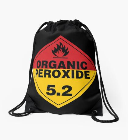 Organic Peroxide Warning Sign Drawstring Bag