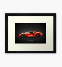 The Fighting Bull Aventador Framed Print