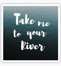 River - Leon bridges Sticker