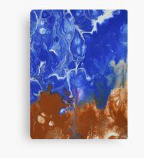 Raw Electric Blue Canvas Print