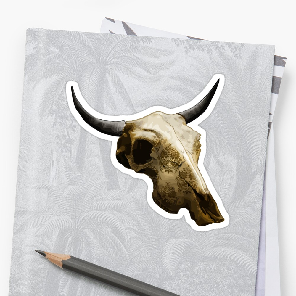 Royal Texture Cow Skull Design v.9  by GLOBEXIT