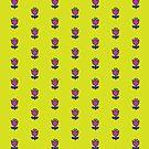 Purple flower - Retro floral pattern by Cecca Designs by Cecca-Designs