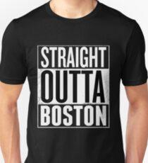 Straight Outta Boston Shirt, Lovers Boston City T-Shirt  Unisex T-Shirt