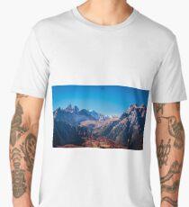 Autumn trekking in the alpine Pusteria valley Men's Premium T-Shirt