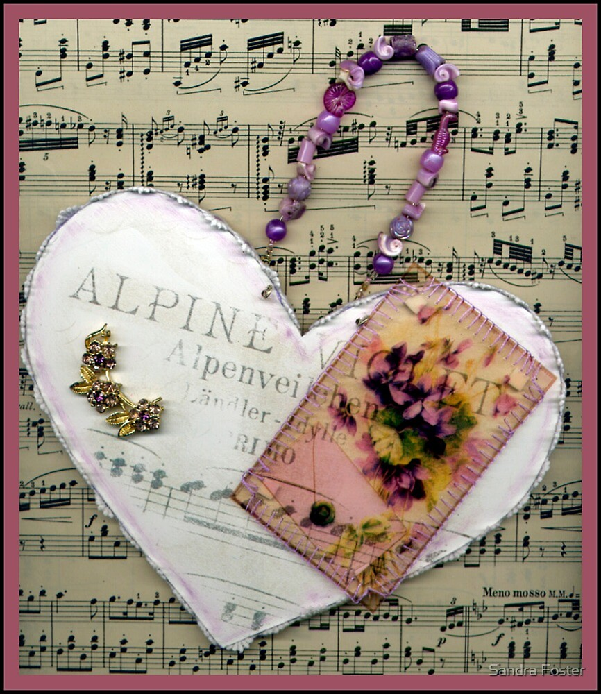 Alpine Violet Heart! by Sandra Foster