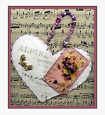 Alpine Violet Heart! Photographic Print