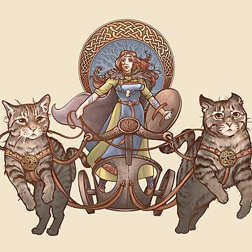 Freya Driving Her Cat Chariot by DaniKaulakis