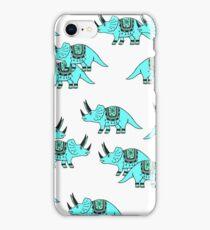 Dinosaur Blue Pattern iPhone Case/Skin
