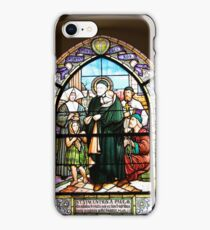 Stained Glass Windows depicting the St. Vincent de Paul iPhone Case/Skin