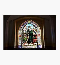 Stained Glass Windows depicting the St. Vincent de Paul Photographic Print