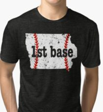 Fastpitch First Base Youth First Base Iowa Tee Ball Tri-blend T-Shirt