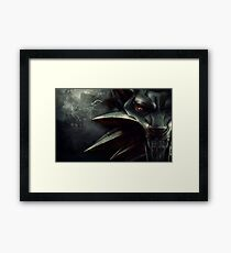 The Witcher Wolf Medallion Framed Print