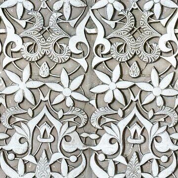 Alhambra Flowers Tessellation by puratura