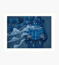 Books magic blue Art Print