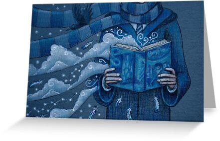 Books magic blue by illustore
