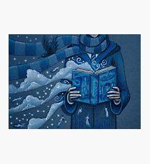 Books magic blue Photographic Print