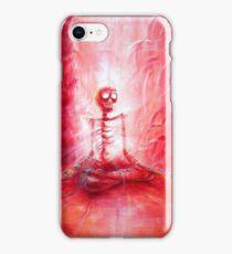 Red Skeleton Meditation  iPhone Case/Skin