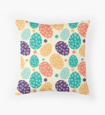 Colorful Easter Eggs Throw Pillow