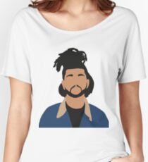 The Weeknd Minimalist Illustration  Women's Relaxed Fit T-Shirt