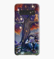 Young witch reading magic book Case/Skin for Samsung Galaxy