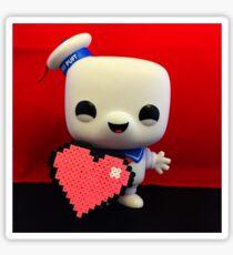 Marshmallow Man Valentines  Sticker