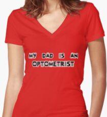 optometrist Women's Fitted V-Neck T-Shirt