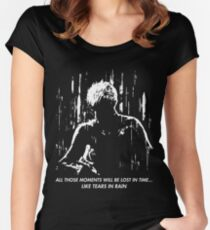 Blade Runner - Like Tears in Rain Women's Fitted Scoop T-Shirt