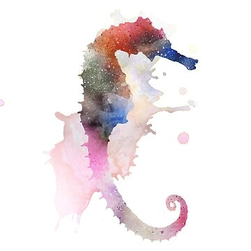 Seahorse - watercolor by -Pano