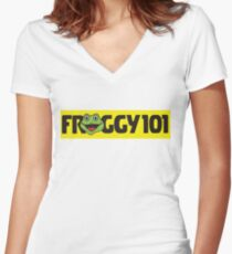 Froggy 101 The Office Women's Fitted V-Neck T-Shirt
