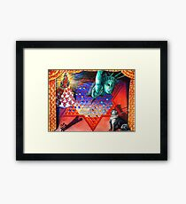 Fascist Dog, Political Bully and the Marriage of Politics and Religion. Framed Print