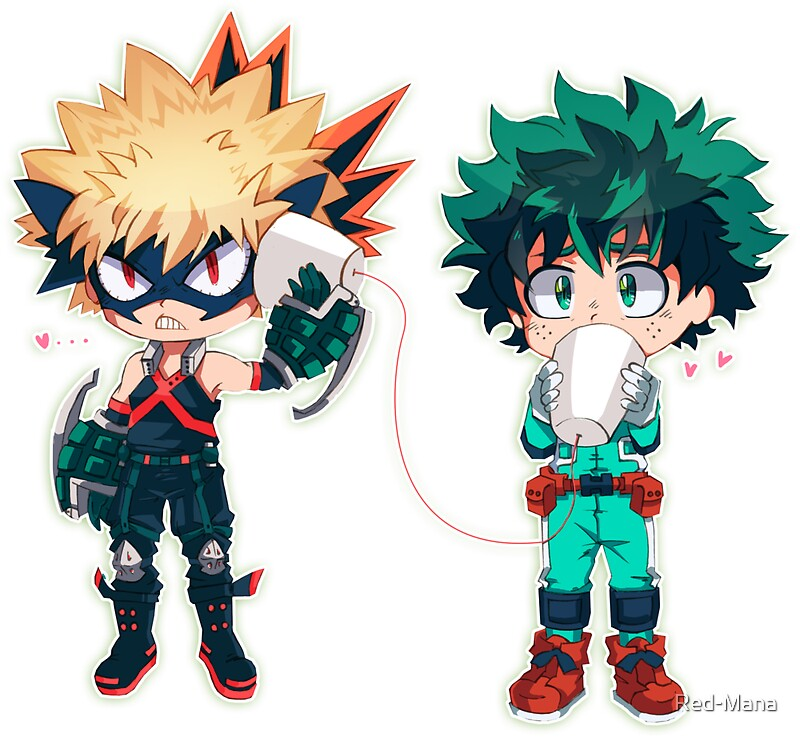 Quot Bakudeku Chibies Quot Stickers By Red Mana Redbubble